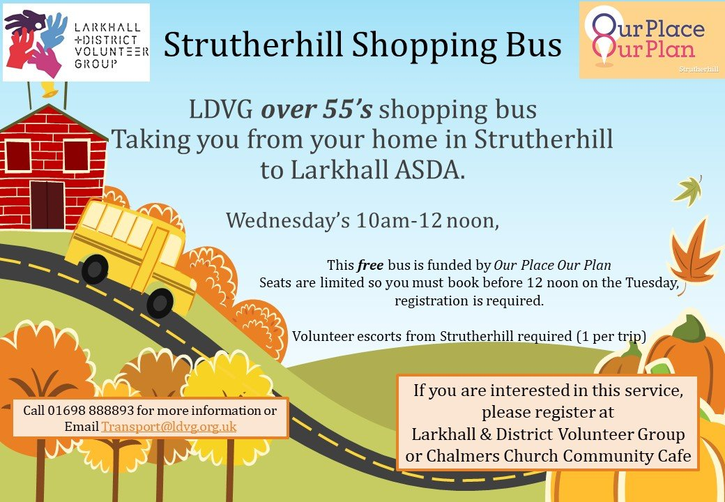 Strutherhill Shopping Bus Poster